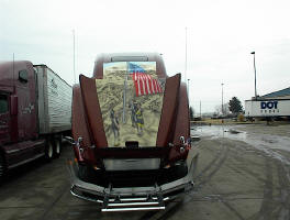 911 tribute paint truck