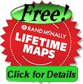 Free lifetime maps on Rand McNally TND730 gps