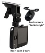 2 camera trucker and fleet dual dash cam recorder