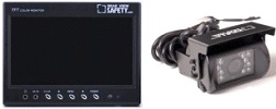 outside truck or rv vehicle backup camera system with monitor