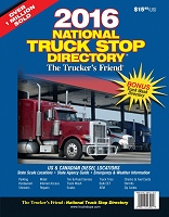2016 Trucker Friend truck stop book