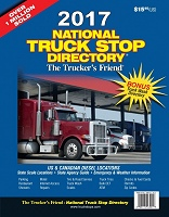 2017 truckers friend national truck stop directory guide book