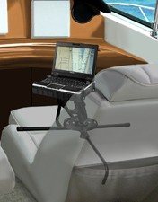 Portable laptop computer mount for slip-seat drivers