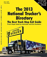 National trucker service directory truck stop book