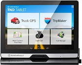 Truckers tablet and GPS by Rand McNally