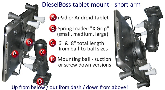 Rand Mcnally Gps >> Truck & RV dash mount or windshield bracket for tablet ...