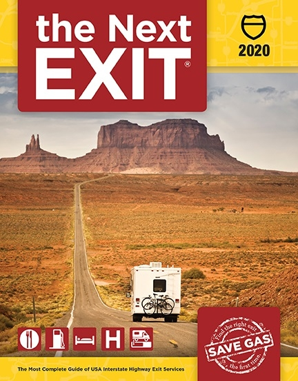 The Next Exit 2015 highway exit guide book