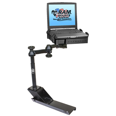 ram laptop mount bracket desk for chevrolet colorado and gmc canyon. Black Bedroom Furniture Sets. Home Design Ideas