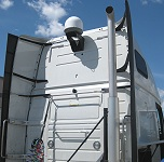 Installing trucker satellite tv system on a truck
