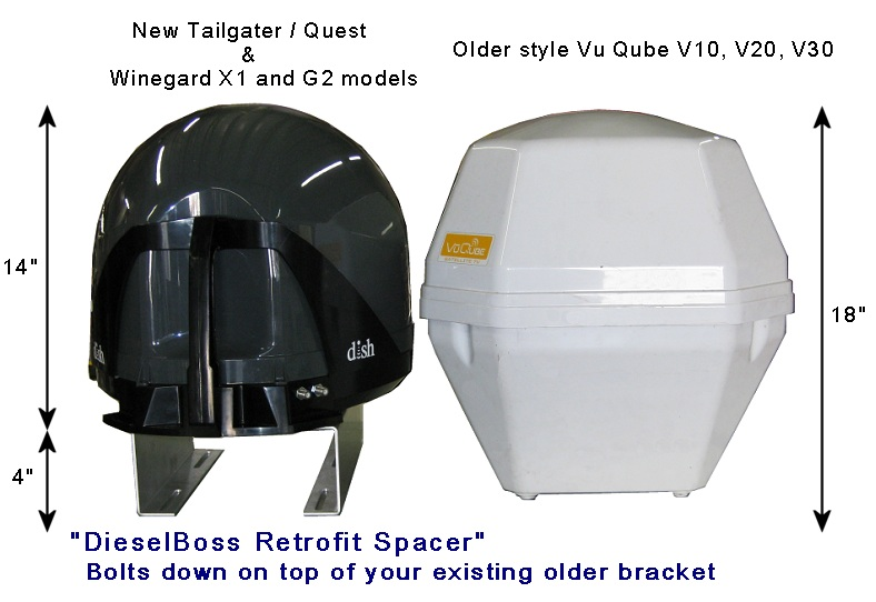 Mount Bracket For Tailgater Quest Or Winegard Satellite
