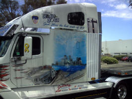 911 tribute paint semi truck