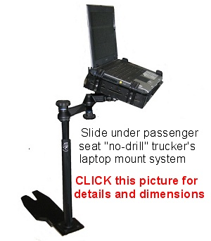 The best under seat no drill laptop truck mount